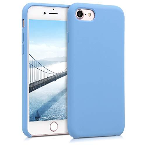 kwmobile Cover Compatibile con Apple iPhone 7 8   SE (2020) - Cover Custodia in Silicone TPU - Back Case Protezione Cellulare Blu Cadetto