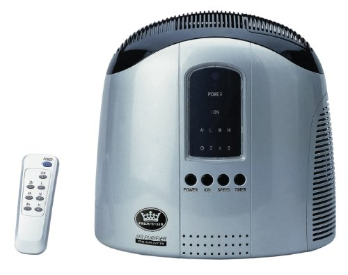 Prem-I-Air EH0312 Hepa Air Purifier with Ionizer and Remote Control, Silver, 40 W, Grey