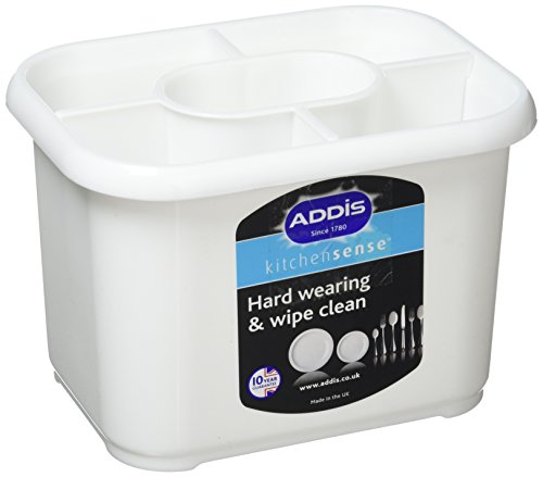 Addis Kunststoff-Abtropfbehälter für Besteck, weiß
