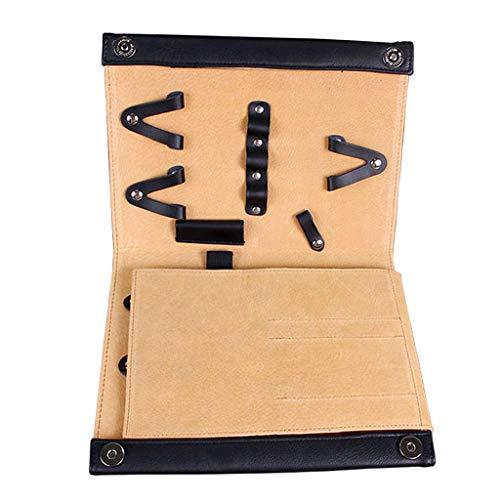 Backbayia 8pcs Pochette à Ciseaux étui de Maquillage Cas de Rangement pour Outils de Coiffure (Noir)