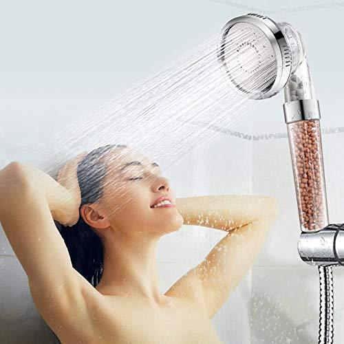 Cabezal de ducha iónico, de mano de alta presión, filtro iónico, filtro de cloro con función de 3 vías
