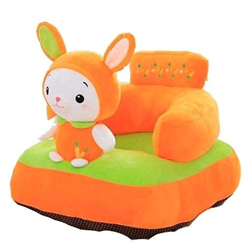 Besties Rabbit Shape Soft Plush Cushion Sofa Seat for Kids (0-4 Years)