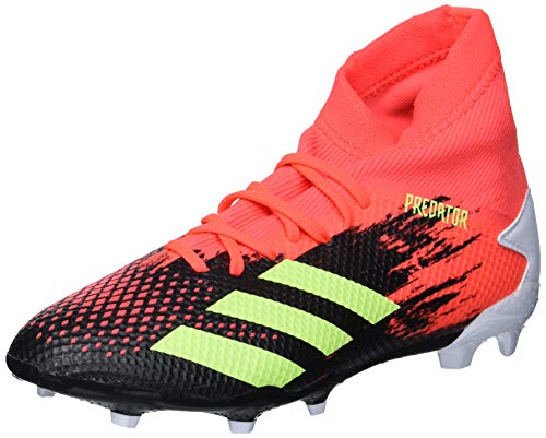 adidas Predator 20.3 Firm Ground - Zapatillas de fútbol para hombre, color negro y verde señal/Pop 7