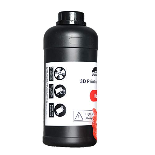 Wanhao 22345 3D Printer UV Resin 1000ml Red