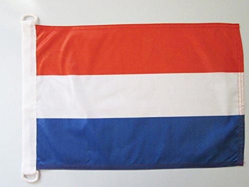 AZ FLAG BOOTFLAGGE NIEDERLANDE 45x30cm - HOLLÄNDISCHE BOOTSFAHNE 30 x 45 cm Marine flaggen Top Qualität