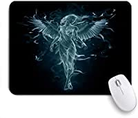 KAPANOU マウスパッド、クリエイティブファンタジーヌードガールコンサイスブラック おしゃれ 耐久性が良い 滑り止めゴム底 ゲーミングなど適用 マウス 用ノートブックコンピュータマウスマット