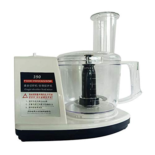 Küchenmaschine, Mühle/Fleischwolf, Messerhalter aus Edelstahl/hochtemperaturbeständig/PC-Tasse mit großem Fassungsvermögen 1,8 l/mechanischer Schalter