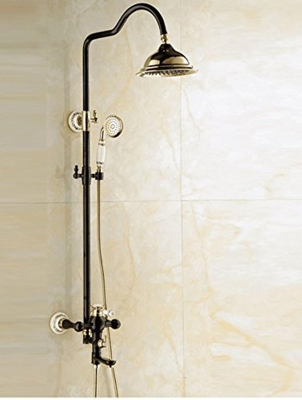 ETERNAL QUALITY Badezimmer Waschbecken Wasserhahn Messing Hahn Waschraum Mischer Mischbatterie Tippen Sie auf Dusche Dusche kit Dusche,warmes und Kaltes Wasser Hhne voll