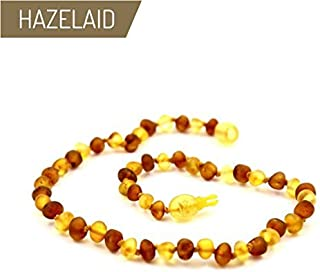 Hazelaid (TM) 12 Pop-Clasp Baltic Amber Nutmeg & Lemondrop Necklace