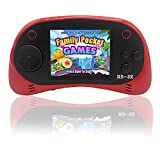 Kids Portable Handheld Game Console - RS-8X [Upgrade] 16 Bit HD Game Player Built-in 42 Games with 2.5 Inch LCD Screen Handheld Rechargeable Gaming System Best Gifts for Children & Family (Red)