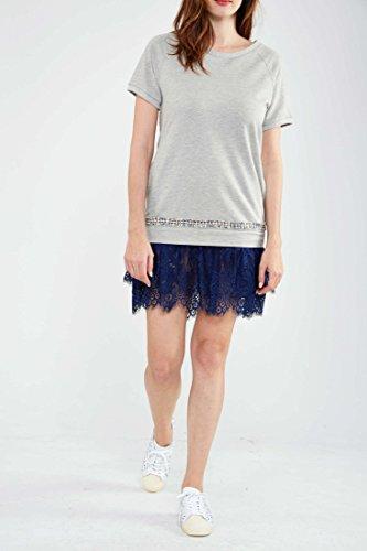 Fracomina Kleid Sonia Grau Meliert