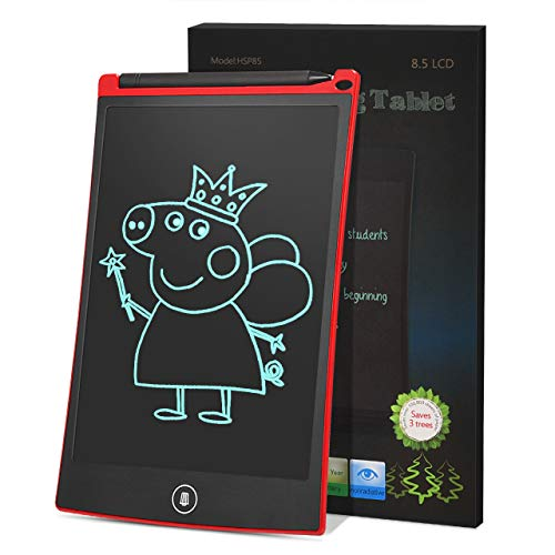EUTOYZ Geschenke für Mädchen ab 2-12 Jahre, Geschenke für Teenager Mädchen, 8,5 Zoll Digital Ewriter Elektronisches Grafiktablett Tragbares Mini Tafel Handschrift Pad Zeichentablett Kindertag (rot)