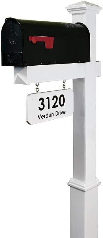 4Ever security Products The Fitzgerald Mailbox Latest item Post with Hangin Included