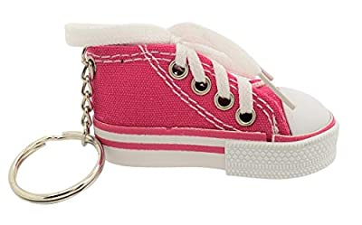 """Pink 1 Pack - Miniature Sneaker Shoes Keychains (3"""") 6 Colors: Pink, Light Blue, Green, Red, Blue, Black. Backpacks, Key Chains, Great Party Favor Novelty Toy. Shoes for Dolls. (Pink) from Zugar Land"""