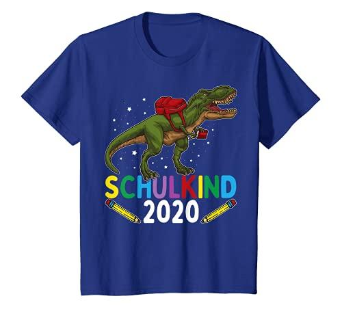 Niños Escuela infantil 2020, diseño de dinosaurios, color azul Camiseta