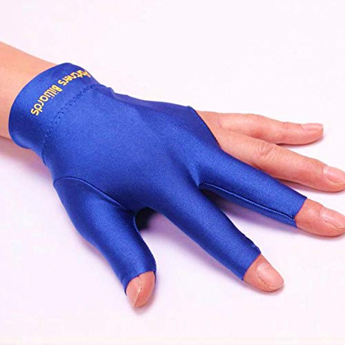 juman634 3 Fingers Billiards Glove Snooker Cue Shooters Gloves for Men Women, 4 Colors