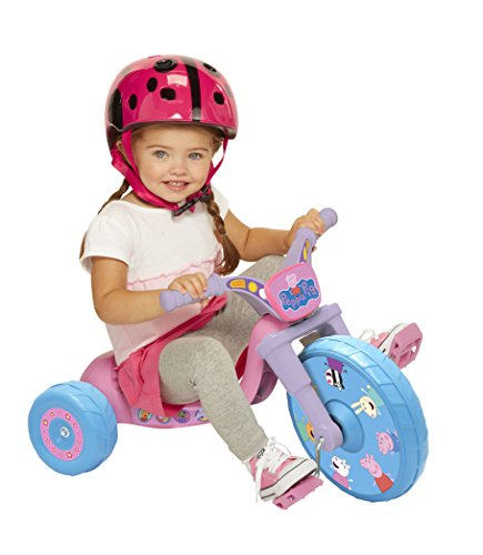 """Peppa Pig 10"""" Fly Wheels Junior Cruiser Ride-On Pedal-Powered Toddler Bike/Trike, Ages 2-4, For Kids 33""""-35"""" Tall and up to 35 Lbs"""