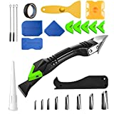 6 in 1 Silicone Caulking Tool Kit [26Pcs], Caulk Remover, Scraper Tool Kit and Grout Removal Tool, Sealant Finishing Tool set for Bathroom Kitchen Floor Window Sink Joint