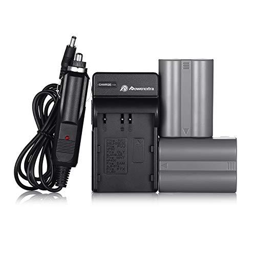 EN-EL3E Powerextra 2X EN-EL3E Battery & Charger Compatible with Nikon D50, D70, D70s, D80, D90, D100, D200, D300, D300S, D700 D900 Digital Cameras (Free Car Charger Available)