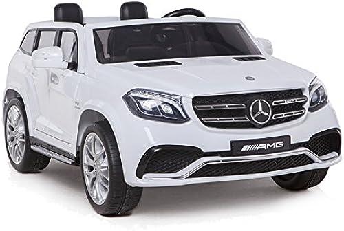 100% autentico Coche Electrico Electrico Electrico para Niños Auto Alimentado con Batería Vehículo Eléctrico Control Remoto - Mercedes GLS63 - blanco  descuento de ventas