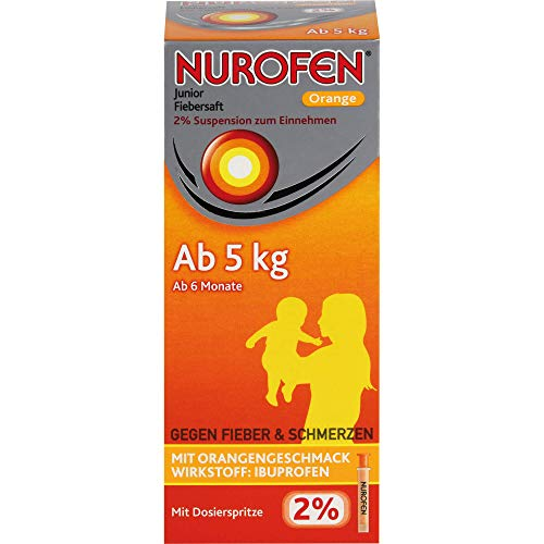 Nurofen Junior Fiebersaft Orange 2%, 150 ml Lösung