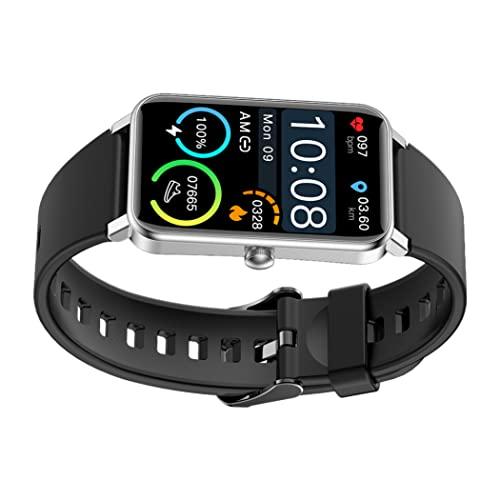 Smart Watch Fitness Track Armband mit großer Touchscreen HD-Display Smartwatch für Männer Frauen Silber Schwarz Tragbarer Accessary