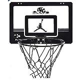 MHCYKJ Canasta Baloncesto Interior Casamini Aro De con Tablero Montado En La Pared Oficina Mini Junta Niños Deportes Ocio Balón Y Bomba