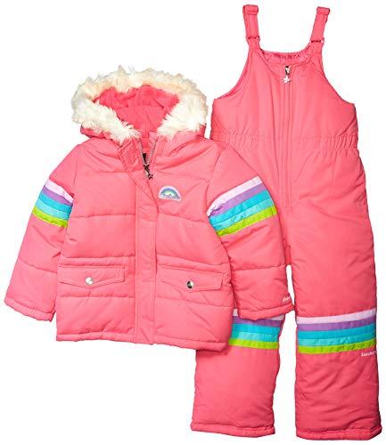 Skechers Girls' Little 2-Piece Heavyweight Snowsuit, Pink Carmine, 5/6