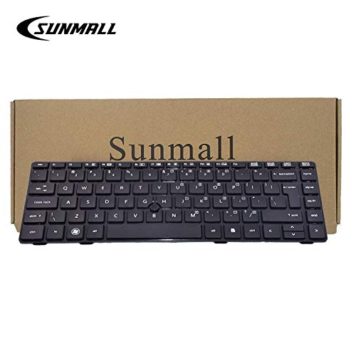 SUNMALL Keyboard Replacement with Big Enter Key Compatible with HP ProBook 6460b 6465b 6470b 6475b HP EliteBook 8460p 8460w 8470p 8470w Serier Laptop 635769-001 641835-001 V119026BS1