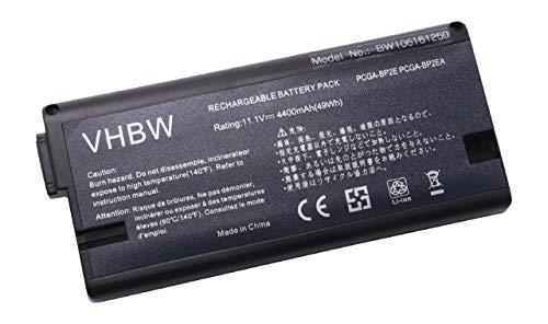vhbw Batterie pour Ordinateur Portable Sony VAIO VGN-A72S, VGN-A72PB, VGN-A73PS, VGN-A73S, VGN-A74PS Li-ION 4400 mAh 11,1 V 48,84 Wh Noir