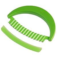 KUHN RIKON Krinkle Knife, Stainless Steel, Green, 15 x 11.1 x 1.9 cm