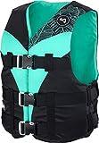 MESLE Schwimmweste V210-W, leichte Schwimm-Hilfe für Damen & Mädchen, XS-XL ab 30 kg, 50-N Auftriebsweste für SUP Wasserski Paddeln Wakeboard Kajak Schnorchel-Weste, Wasser-Sport, Größen:XL