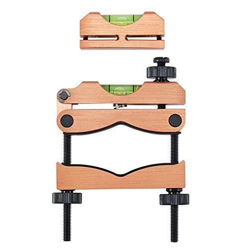 HIRAM Reticle Leveling System Firearm Scope Crosshair Alignment Level Tool Kit 2 pc Precision Bubble Levels for Gunsmithing and Professionally Aligning Rifle and Carbine Optics (Oak)