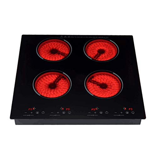 ZHSHOP Induction Cooker Plug-in Induktionskochfeld, Elektro-Induktions kochplatte 4 Kochringe Herd & Touch Control Electric Ceramic Hob, 2000W * 4