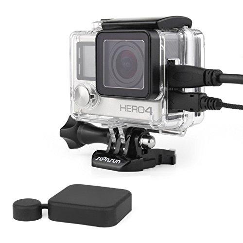 soonsun Schutz Gehäuse Fall mit BacPac Backdoor für GoPro Hero 33+ 4Kamera