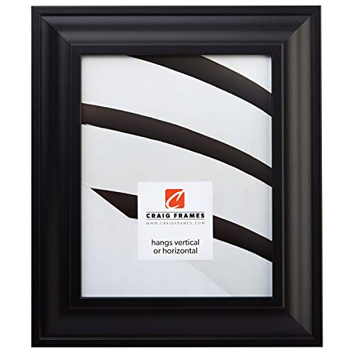 Craig Frames 21834700BK 11 by 14-Inch Picture Frame, Smooth Wrap Finish, 2-Inch Wide, Black