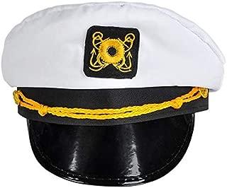 Rhode Island Novelty White Captains Hat One Per Order