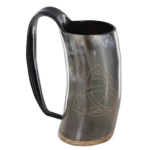 Norse Celtic Tankard Triquetra Trinity Knot Design Drinking Horn Mug