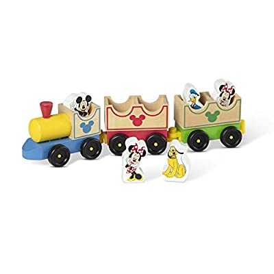 Melissa & Doug Mickey Mouse And Friends Wooden All Aboard Train by Melissa & Doug