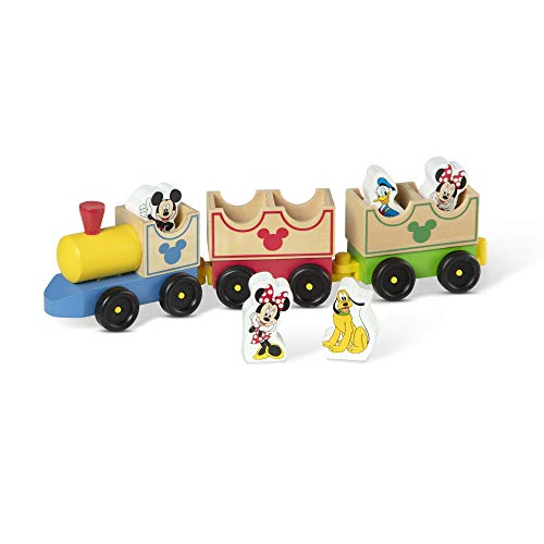 Melissa & Doug Mickey Mouse And Friends Wooden All Aboard Train