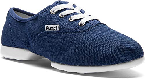 Rumpf Bee 1515 Dance Tanz Sport Sneaker Hip Lindy Hop Trainings Schuhe Leinen, Blau, 40 EU
