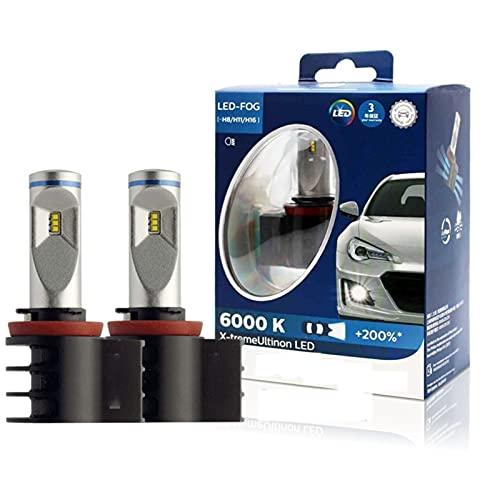 Dumai Luz de Niebla 2X X-Treme Upinon LED H8 H11 H16 6000K Más Lámparas de Niebla de Autos de luz Brillantes Bulbos Originales 12834unix2 (Socket Type : H11 Fog Light)