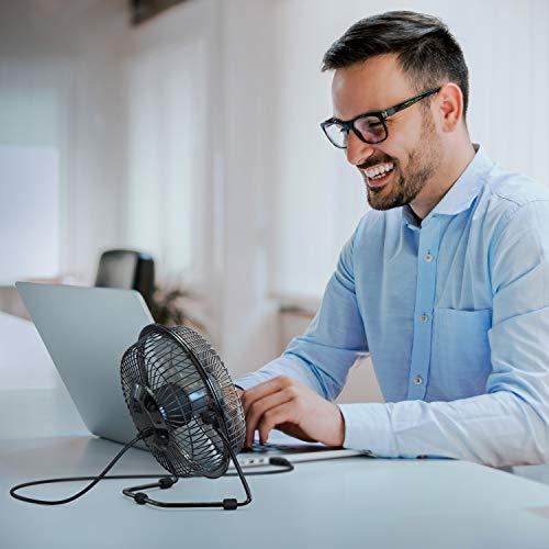 CSL - USB Ventilator 17cm - Tischventilator Fan - Rotorblätter aus Kunststoff Silent - Fan