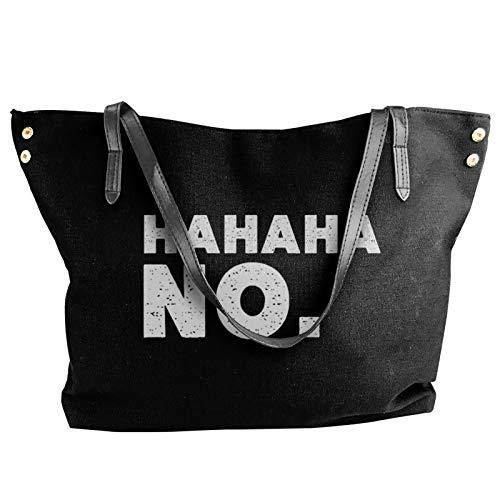 Hahaha No. Fashion Canvas Shoulder Bag For Women