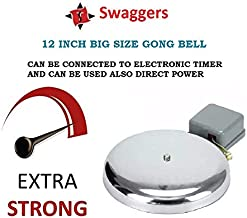 SWAGGERS Big Size 12 INCH GONG Bell for Schools, Colleges, Factories