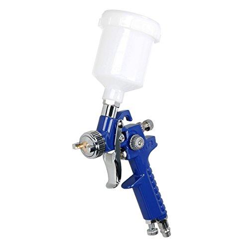 ECD Germany HVLP Lackierpistole 0,8 mm Düse 100 ml | Lackpistole Sprühpistole Druckluft Spritzpistole Druckluftpistole Farbsprühpistole Farbspritzpistole Farbpistole