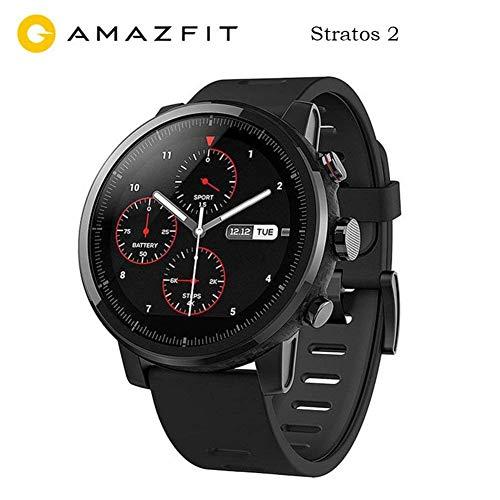 Huami Amazfit Sports Smartwatches Stratos 2 Avec GPS PPG Moniteur de Fréquence Cardiaque Étanche Bluetooth jouer de la musique Version Internationale Noir