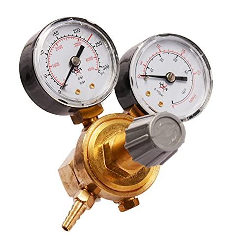 HEQIE-YONGP Regulador de Aire, Argón CO2 Regulador de presión de Botella, MIG TIG Flujo de Soldadura Metro del calibrador W21.8 1/4 Tema 0-20 MPa Regulador