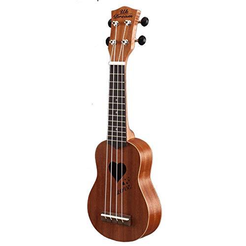 LOIKHGV 17 Zoll Akustikgitarre 4 Saiten Ukulele Sopran Gitarren 12 Bünde Mahagoni Gitarre Musikinstrumente für Anfänger, 17 Zoll