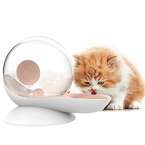 GJCrafts Automatischer Wasserspender für Haustiere Schneckenform Transparent Katzen Trinkbrunnen große Kapazität Hunde Wasserspender für kleine und mittelgroße Katzen Hunde (2,8 l)